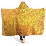 UKSILYHEART Hooded Blanket Wearable Blanket 130x150cm Original Blanket-Poncho Old Tibal Grunge Motif Best Nap...