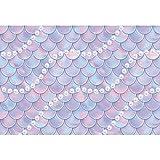 CSFOTO 3x2,5m Sirena Cumpleaños Fondo Brillantina Escamas de Sirena Perlas Fotografía Fondo por Niños Cumpleaños Fiesta Decoración Chicas Princesa Baby Shower Pastel Mesa Bandera Suministros