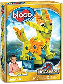 Bloco - Dragons Lightnix Kids Art Craft. DIY Robots Craft Kits for Kids. Loos yourself in a Blaze of Glory - SMU-30512
