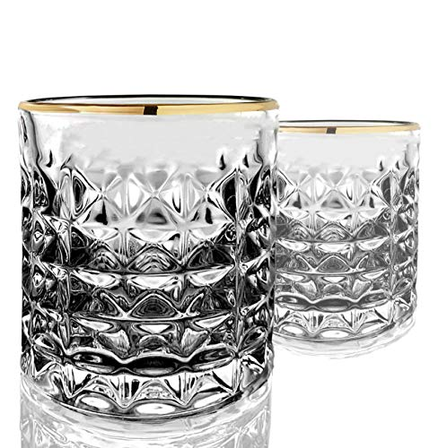 Cocktailgläser mit Goldrand 10-ounce Lowball farblos