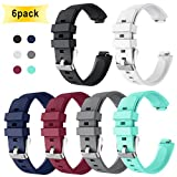 GOSETH Compatible with Fitbit Ace 2 Bands for Kids 6+, Fitbit Inspire Fitbit Inspire Hr Band Replacement Silicone Accessories Bracelet for Fitbit Ace 2 Fitness Tracker (6 Pack)