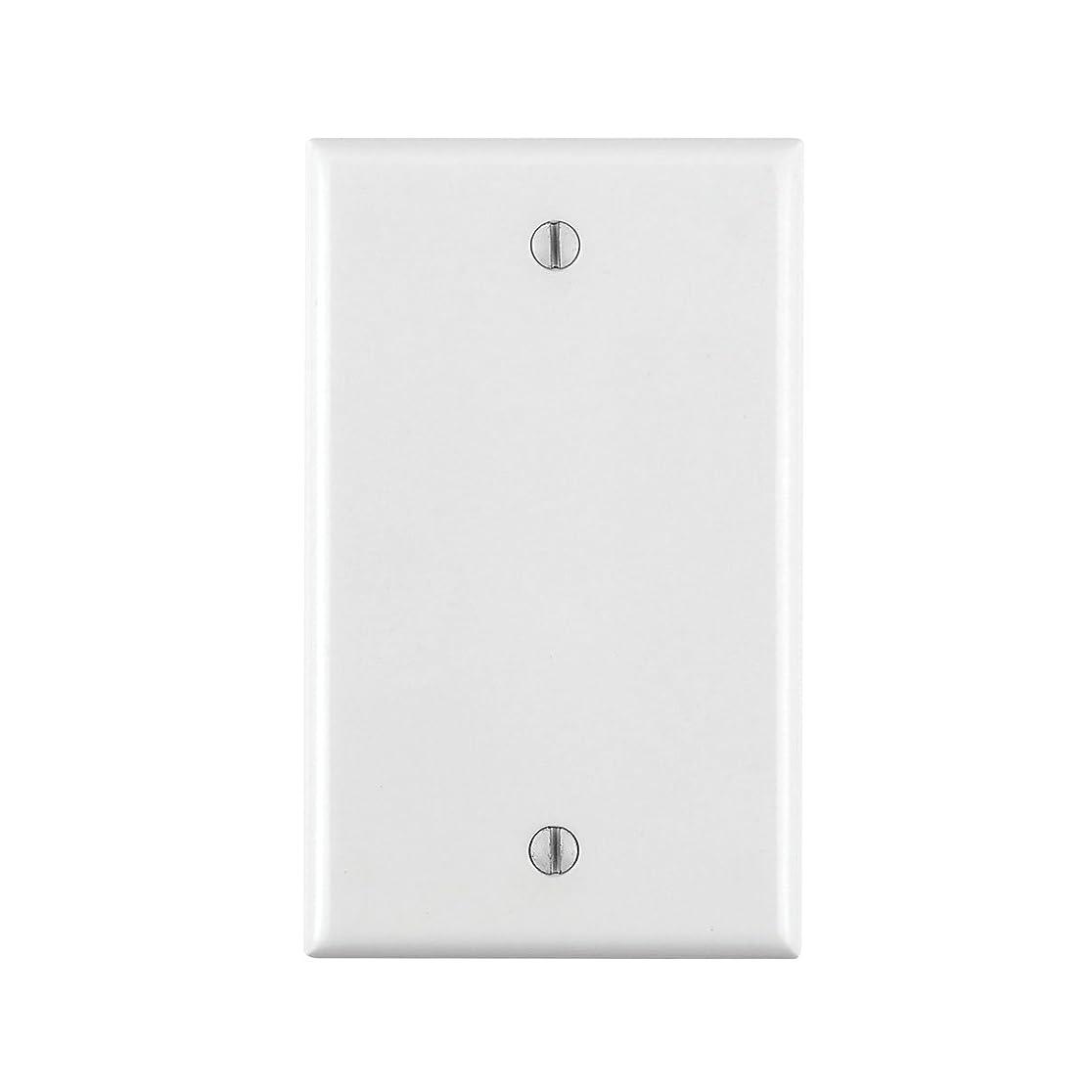 パンお尻歩き回るLeviton 88014?1-gang noデバイス空白Wallplate、標準サイズ、熱硬化性樹脂、ボックスマウント、ホワイト(5パック)