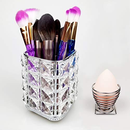 sciuU Make-up Bürstenhalter + Beauty Blender-Schwamm Halter, Make-up Pinselhalter Kosmetik...
