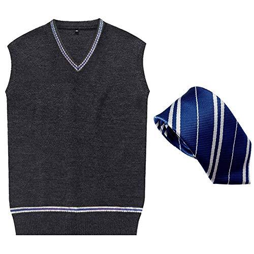 GoldBucket Unisex Adult Cosplay Costumes Robe Vest Shirt Skirt Tie (L, Blue)