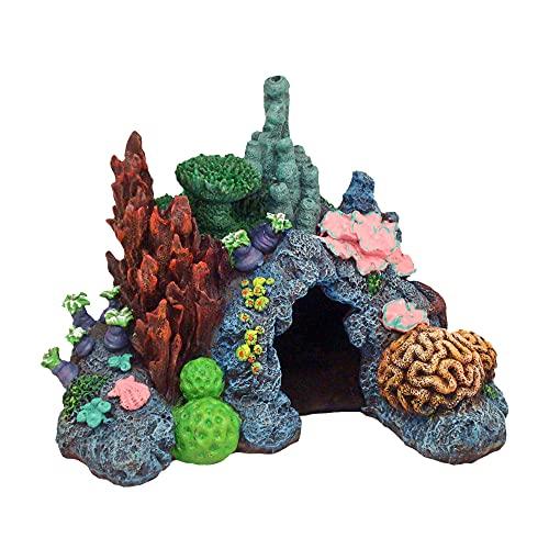 Ornamento de aquário de recife do Caribbean Living da Exotic Environments, pequeno, 19 cm x 13 cm x 14 cm