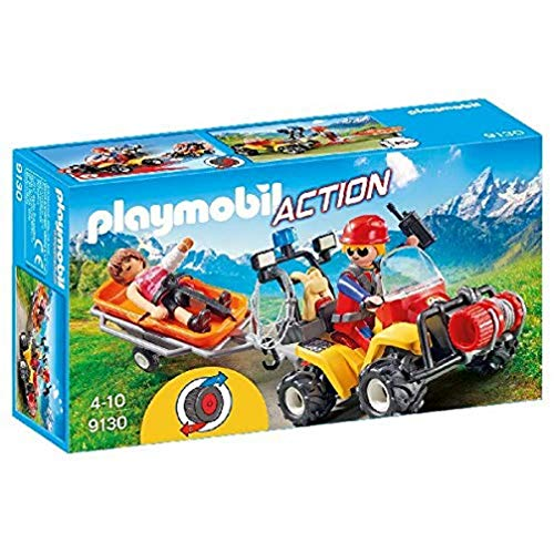PLAYMOBIL- Quad de Rescate de Montaña (9130)