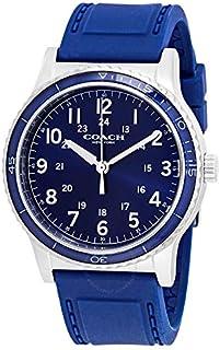 Coach Factory Prog Men'S Navy Dial Navy Silicone Watch - 14602066