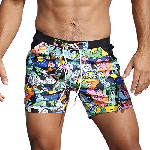 Costumi da Bagno Taddlee Boxer Essenziali per Nuotate Lunghe Boxer Short Costumi Corti per Surf
