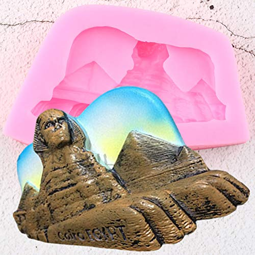 ZHQIC Egyptian Pyramids Sphinx Silicone Molds Diy Party Fondant Cake Decorating Tools Candy Chocolate Gumpaste Moulds Resin Mold