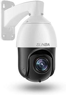 SUNBA Cámara PTZ Starlight PoE+ IP de 1080p para Exteriores Zoom óptico 20x@H.265 Patrulla automática 24x7 visión Nocturna infrarroja de Largo Alcance de hasta 100m (405-D20X)