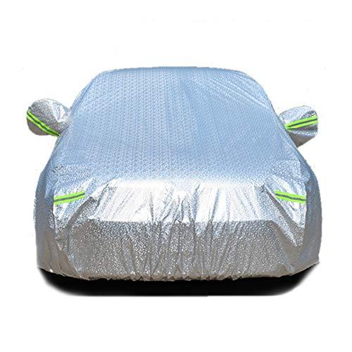 TTOOY Ganzgarage Autoabdeckung,Verschiedene Größen formanpassend AutoAbdeckplane wasserdicht Hagelschutz mit UV Schutz Staubdicht Limousine kleinwagen Kombi Schrägheck (Silber),l
