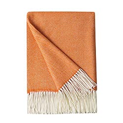 orange throw blanket to keep you warm all winter