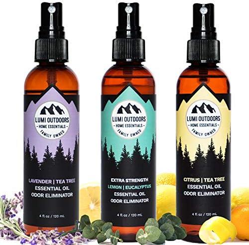 Lumi Outdoors Natural Shoe Deodorizer Bundle Extra Strength Eucalyptus Lemongrass Citrus Tea product image