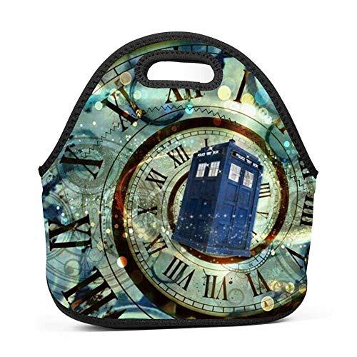 Dozili Doctor Who Große und dicke Neopren-Lunch-Taschen, isoliert, warm, mit Schultergurt, für Damen, Teenager, Mädchen, Kinder, Erwachsene