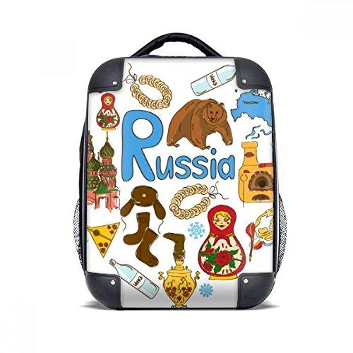 """DIYthinker Russland Akkordeon Basilius-Kathedrale Hard Case Schulter Kinder Rucksack Geschenk 15\"""""""