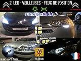 MyAutoLight - Pack Ampoules Voiture Pour DS3 CABRIOLET - Veilleuses - Blanc Pur Effet Xénon
