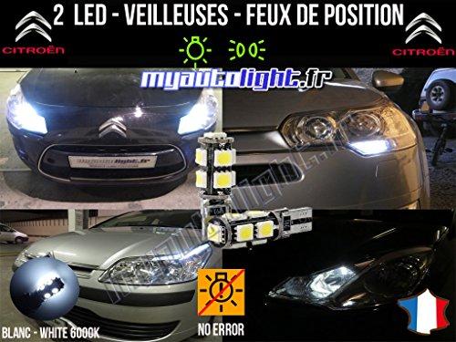 Bombillas Luz de posición LED–Citroen C4Coupé- W5W Blanco xenón