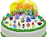 Toppershack 25 x decoración para pasteles comestibles PRECORTADAS de Trolls