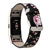 SUNEVEN - Correa de reloj de piel auténtica para Fitbit Charge 2, color A
