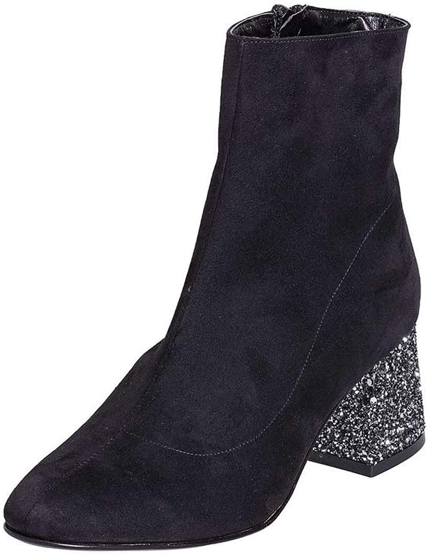 Stiefeletten aus aus aus Camouflage schwarz Größe 37 mit Tülle 5 cm aus Glitter Made in  SCL37-01  2e040e