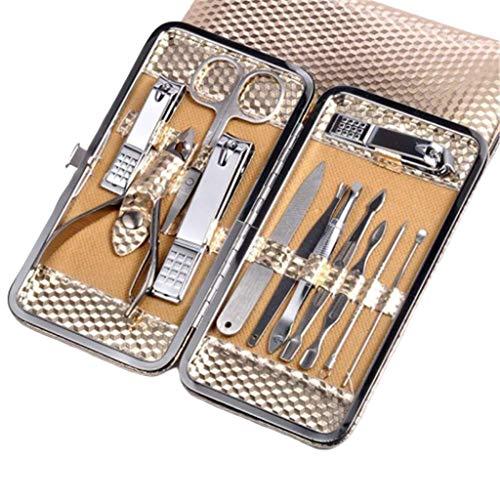 Jszzz Nail Clipper Set -, Ongles Cutter Manucure Nail Trimmer Kit Toilettage Beauté Nail Art Pinceau Fichier polonais Driller Trimmer Tool Set Ongles Trimmer polonais