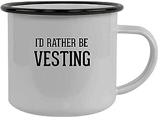 I'd Rather Be VESTING - Stainless Steel 12oz Camping Mug, Black