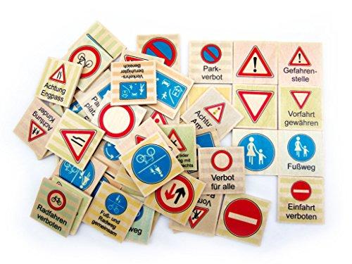 Memo Verkehrszeichen 48 Teile Maße: ca. 12 x 8 x 3 cm NEU Erzgebirge Puzzle Memory Holzspiel