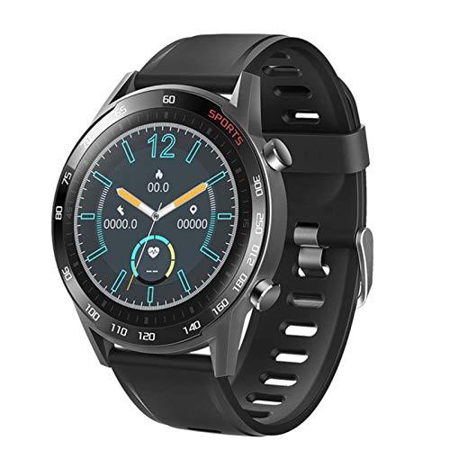 Gulu T23 Bloutoth Smart Watch Cuerpo Temperatura Fitness Tracker Monitor De Ritmo Cardíaco Smartwatch Hombres Mujeres Deporte Aptitud Pulsera,Negro