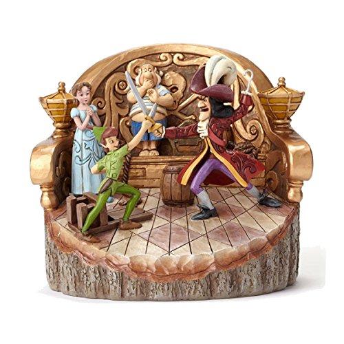 Disney Traditions Carved by Heart Figura Decorativa de Peter Pan, Multicolor