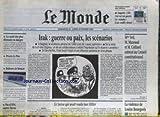 MONDE (LE) [No 16508] du 22/02/1998 - IRAK - GUERRE OU PAIX - MME VEIL - M. MAZEAUD...