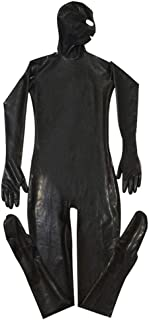 xinYxzR Sexy Men Wet Look Faux Leather Bodysuit Footed Catsuit Nightclub Cosplay Costume