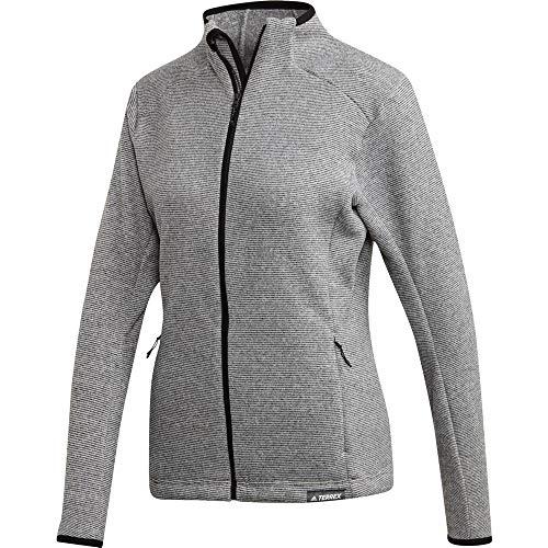 adidas Terrex Damen Fleecejacke Knit Fleece Jacket medium Grey Heather 36