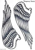 """GGSELL Tatuaggio GGSELL misura 21,5 cm x 30,5 cm (8,46"""" x 12""""), atossico e impermeabile, vendita al caldo, grande ala d'angelo, adesivo temporaneo per donne"""