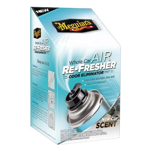 Meguiar's Whole Car Air Re-Fresher Odor Eliminator Mist – New Car Scent – G16402, 2 oz(Pack of 6)