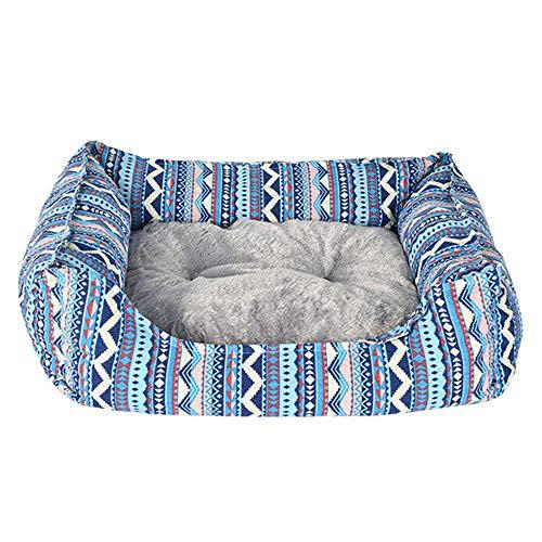 Cesta para Mascotas Hecha de Tela de Felpa 3 tamaños - Lavable y a Prueba de arañazos casa para los Perros y Gatos (L)