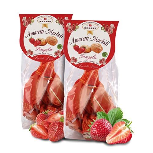 Amaretti Sabor Fresa - Galletas Italianas de Almendra - 150 Gramos (Paquete de 2 Piezas)