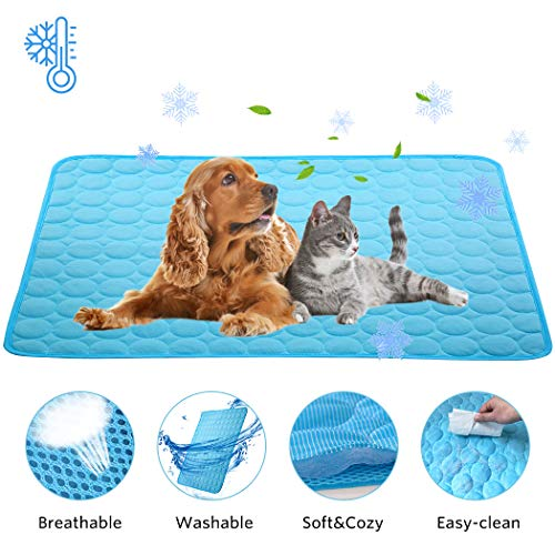 Washable Pet Pad Dog Bed Mats Soft Crate Mats Puppy Sleeping Blanket Dog Cooling Mat Summer Pet Cooling Pads, Kennel Sofa Bed Floor Pad Breathable Portable and Reusable Crate Cushion for Dogs and Cats