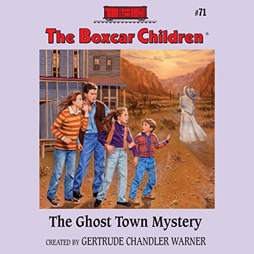 The Ghost Town Mystery audiobook cover art