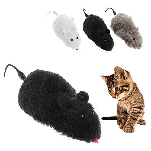 Vlccoo Clockwork Wind Lustige Laufende Maus Ratte Bewegen Schwanz Katze Kätzchen Streich Spielzeug Geschenk Farbe Nach Dem Zufall