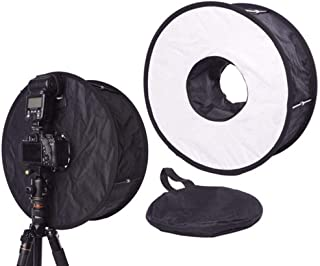 45cm RoundFlash Foldable Ring Flash Speedlite Diffuser Softbox Light Modifier for DSLR Speedlight Macro Portrait Shooting ...