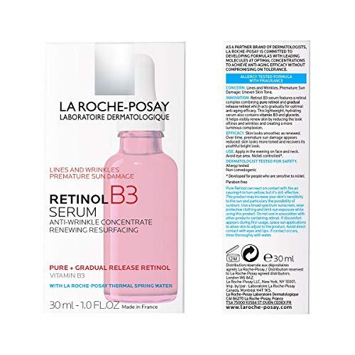 51CIkezbDNL - La Roche-Posay Pure Retinol Face Serum with Vitamin B3. Anti Aging Face Serum for Lines, Wrinkles & Premature Sun Damage to Resurface & Hydrate. Suitable for Sensitive Skin, 1.0 Fl. Oz