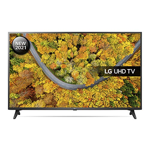 LG 55UP75006LF 55 inch 4K UHD HDR Smart LED TV (2021 Model) with Freeview Play, Prime Video, Netflix, Disney+, Google Assistant and Alexa compatible
