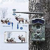 12mp 1080 pワイヤレスmms/smtp/ftp 3gトレイルカメラで3 pirセンサー赤外線ナイトビジョンsmsコマンド野生生物偵察カメラ