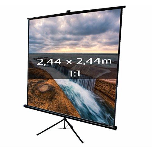 KIMEX 043-2025 Pantalla de proyección trípode 2,44 x 2,44m,...