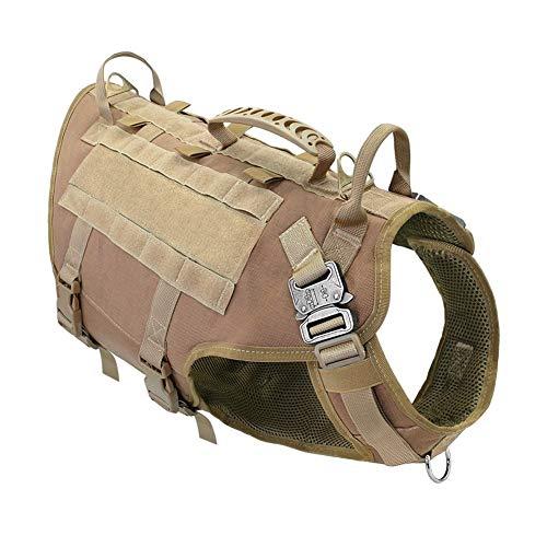 CHENGTAO Tactique en Nylon Harnais for Chien Militaire K9 de Travail Chien Gilet Non Pull Animaux Chasse Formation Gilet for Moyennes Grand Chiens de Berger Allemand Training