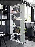 Salone Negozio Online Kit LIBRERIA Alida Design CM 90X25X180H Bianco/Cemento