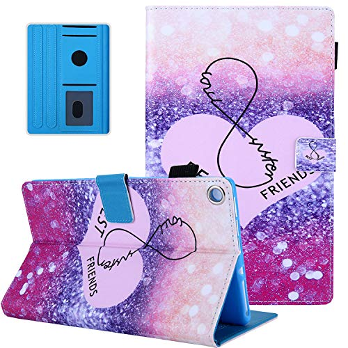 Fire HD 8 Case,All-New Kindle 2018 Case,APOLL PU Leather Folio Folding Stand Auto Wake Sleep Protective Lightweight Cover for All-New Fire HD 8 Tablet(2018/2017/2016 Release),Best Friend