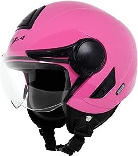 Vaga Verve Open Face Motorbike Helmet (Pink, Medium 58 CM)