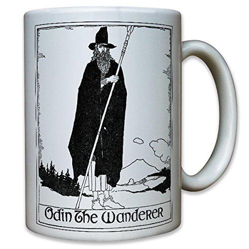 Odin The Wanderer Dios Vikingo Wotan Edda germanen-Taza de café taza # 9532