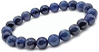 Unique Chakra Boeddha damesparelarmband, 6 mm, watersaffier ioliet, edelsteen, energiearmband, helende stenen, juwelierskw...